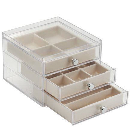 Interdesign Fashion Jewelry Organizer Box For Rings Earrings Bracelets Necklaces 3