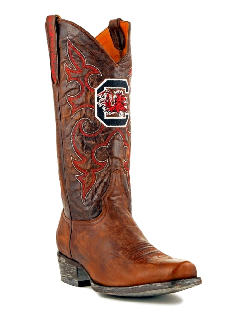 Gameday Boots Leather University Of S Carolina Board Room Cowboy Boots by GameDay Boots