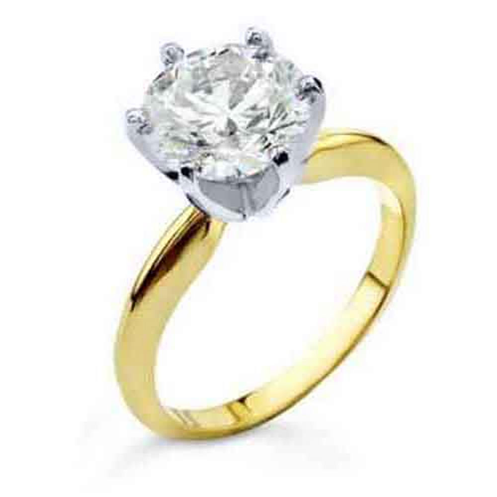 14k Yellow Gold 1.23 Carat Solitaire Brilliant Round Cut Diamond Engagement Ring by TheJewelryMaster