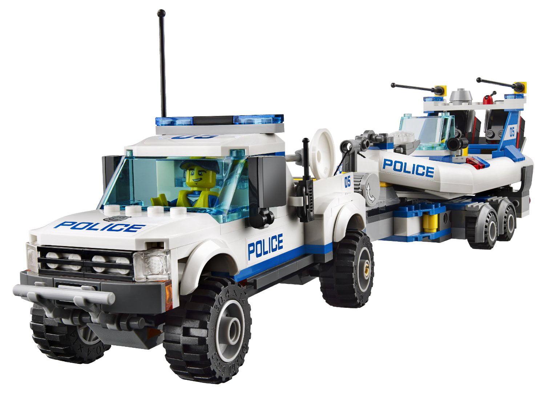 Lego City Police Patrol W Two Floating Dinghys Truck And Trailer Walmart Com Walmart Com