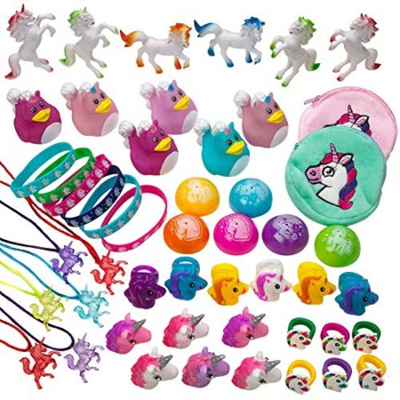 kicko unicorn assortment 50 piece assorted unicorn themed items party favor, classroom prizes, easter egg and party fillers - Classroom Items