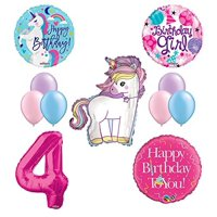 Product Image Unicorn 4th Birthday Girl Party Supplies And Balloon Decorations