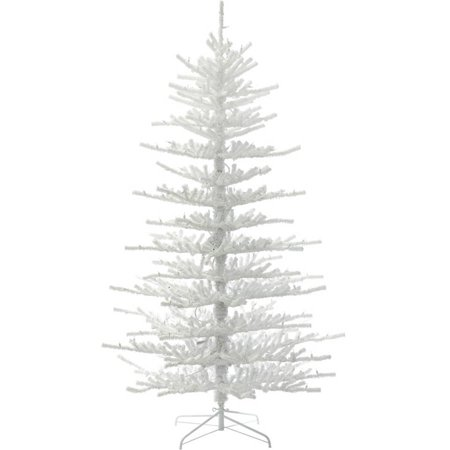 Vickerman 7.5' Flocked Twig Artificial Christmas Tree, Unlit - Vickerman 7.5' Flocked Twig Artificial Christmas Tree, Unlit
