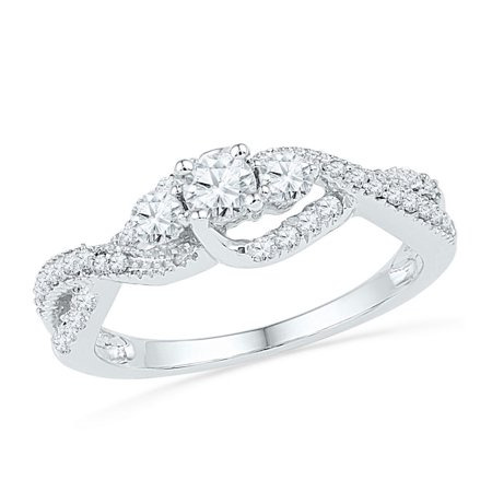 5 8Ctw Dia 1 5Ct Crd Bridal Ring
