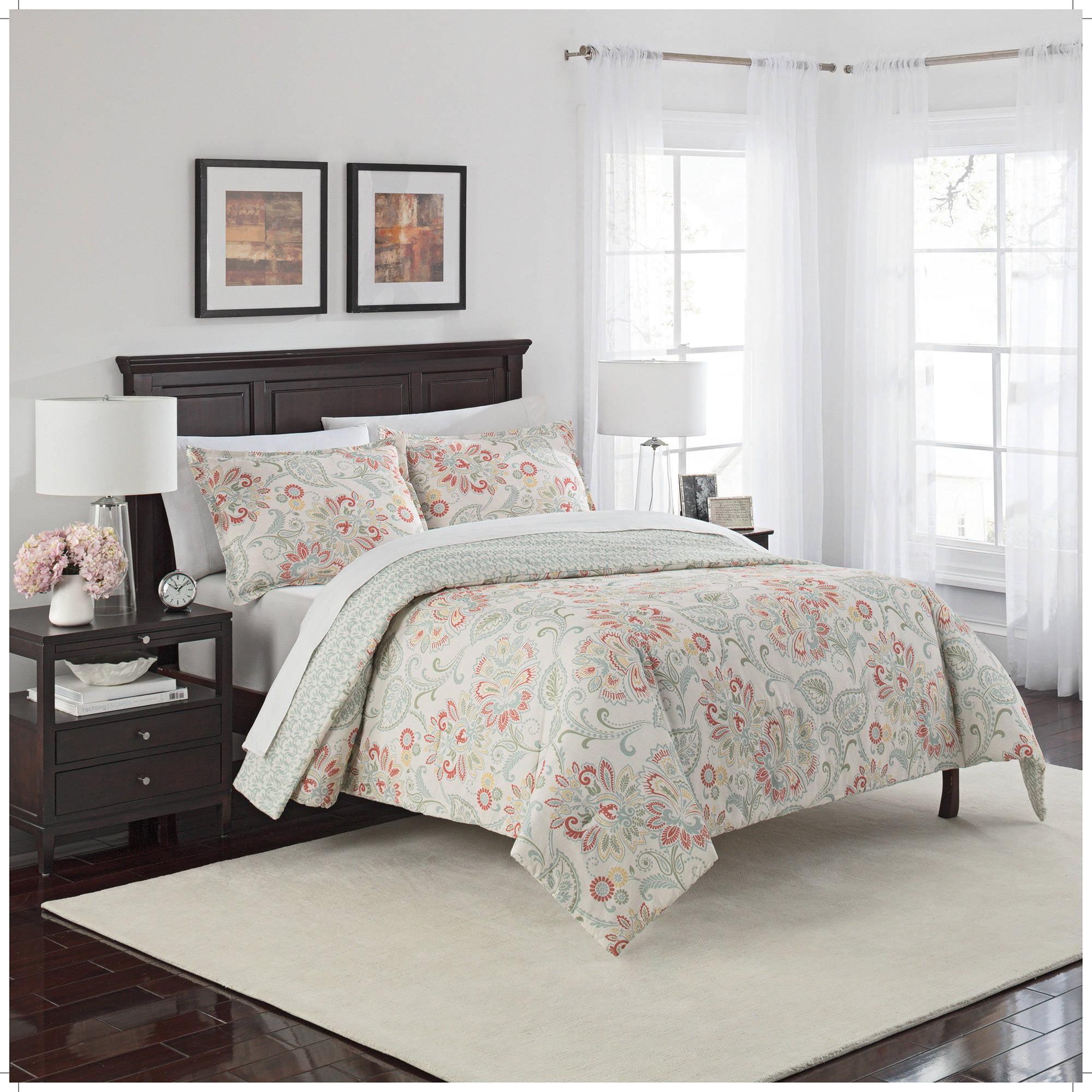 marble hill carlisle reversible 3 piece comforter set walmart com