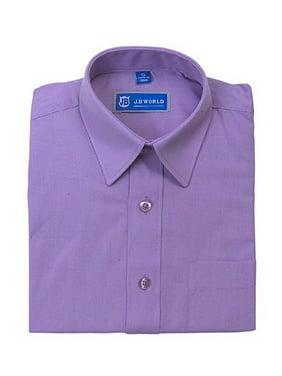 JB World Boys Lavender Long Sleeve Button Front Uniform Dress Shirt