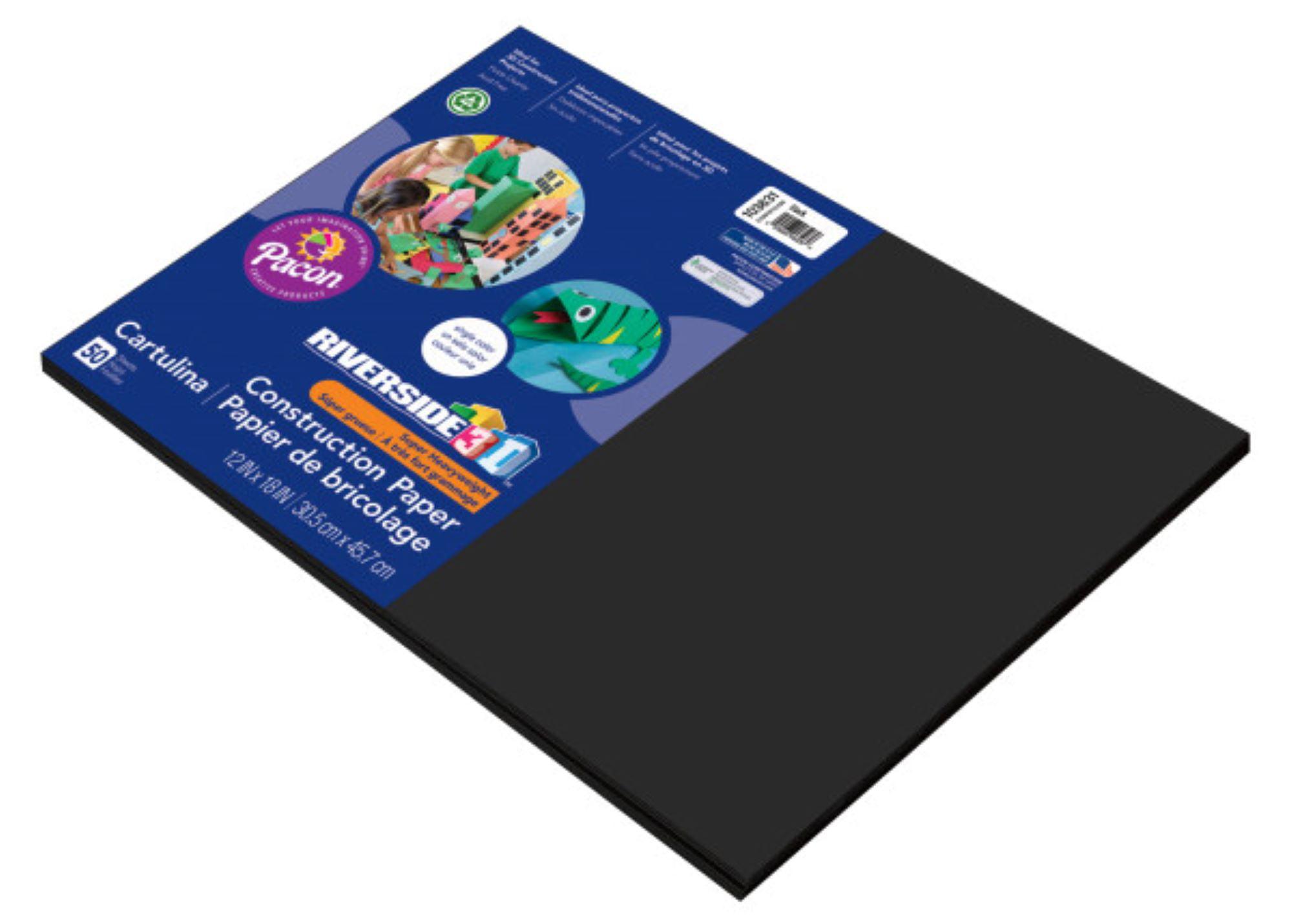 Violet 12 x 18 Riverside 3D Construction Paper 50 Sheets