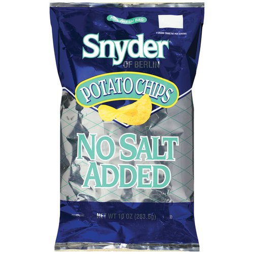 Snyder of Berlin No Salt Added Potato Chips, 10 oz