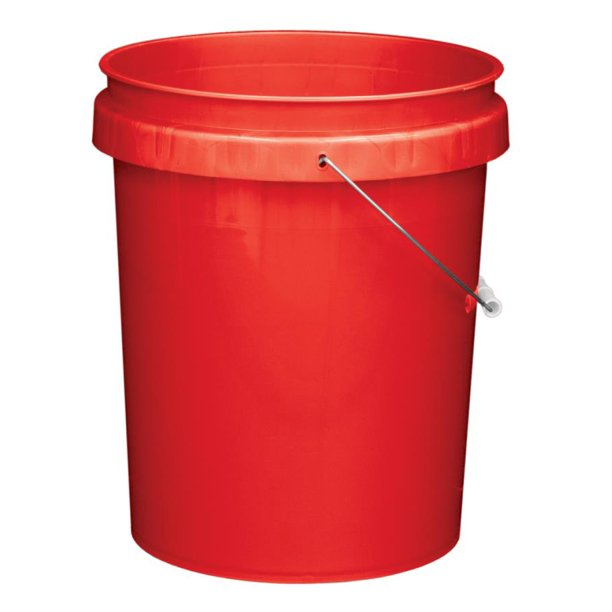 Pn0152 Industrial Bucket Red 5 Gallon Walmart Com Walmart Com