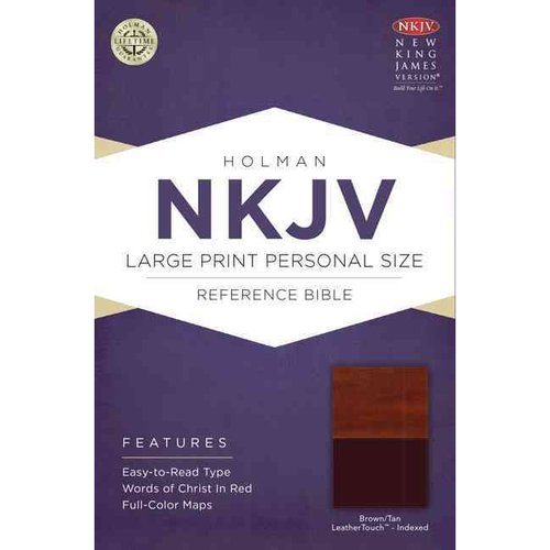 Holy Bible: New King James Version Personal Size Reference Bible, Brown/Tan, LeatherTouch
