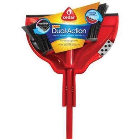 Unisan Angler Broom (O-Cedar Dual Action Angler Broom and Dustpan Set 12