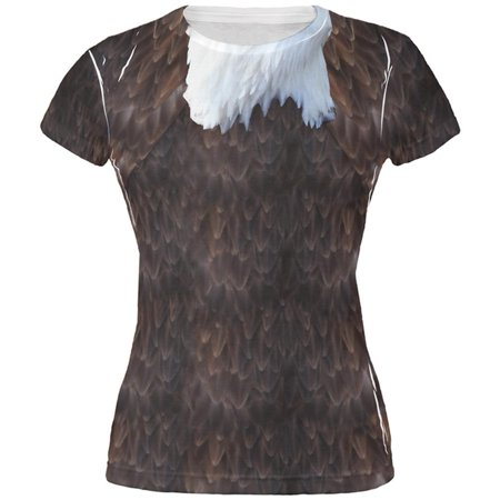 Halloween Bald Eagle Costume All Over Juniors T - Bald Britney Spears Halloween Costume