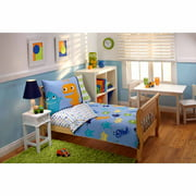 Everything Kids Monsters 3-Piece Toddler Bedding Set with Bonus Matching Pillow Case