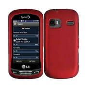 Sprint Hard Case for LG Rumor Reflex LN272 (LG Freedom) - Dark Red