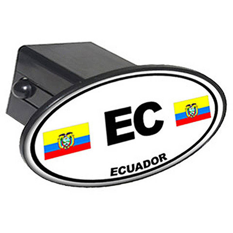 "Ec Ecuador Country Euro Auto Oval 2"" Oval Tow Trailer Hitch Cover Plug Insert"