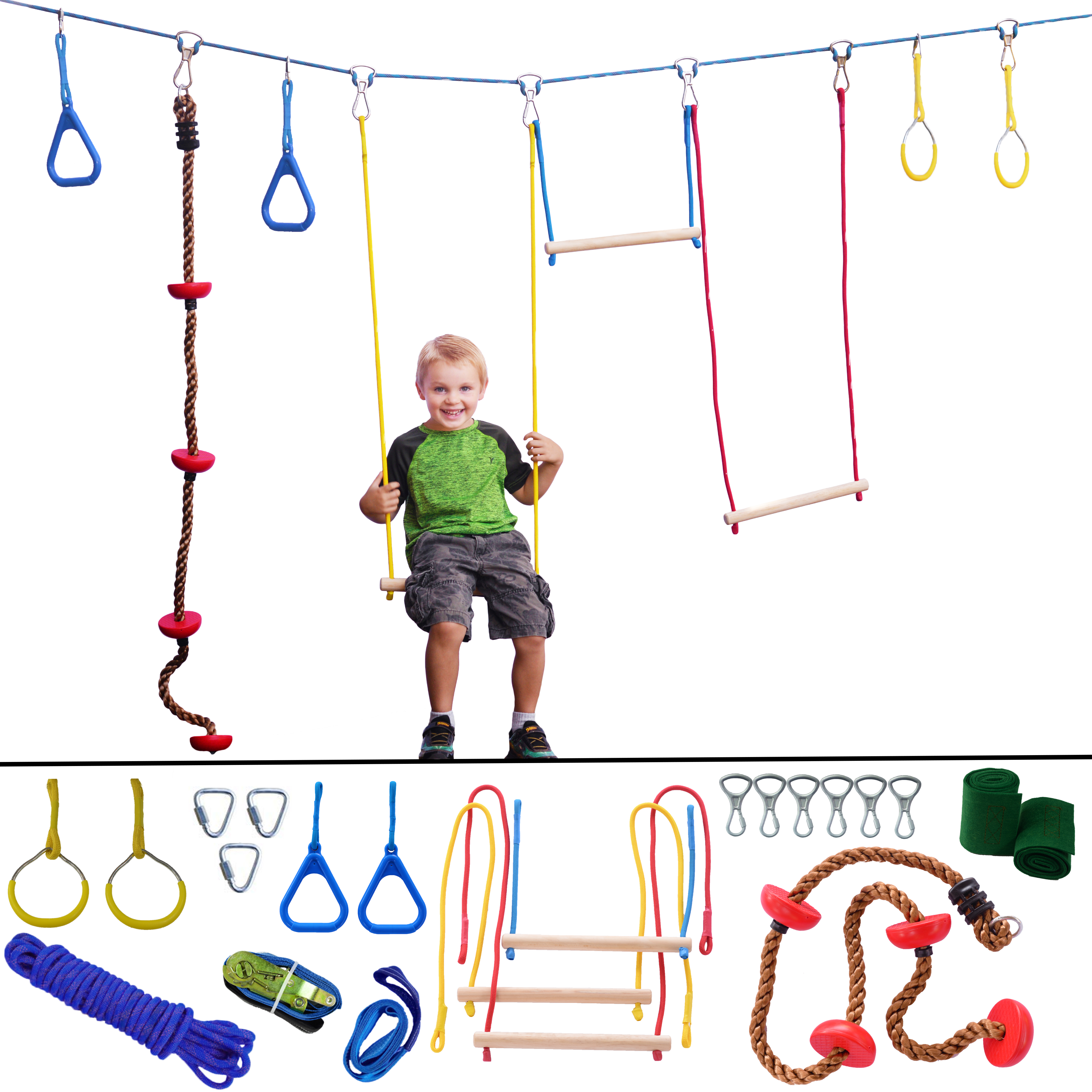 Ninja Hanging Obstacle Course