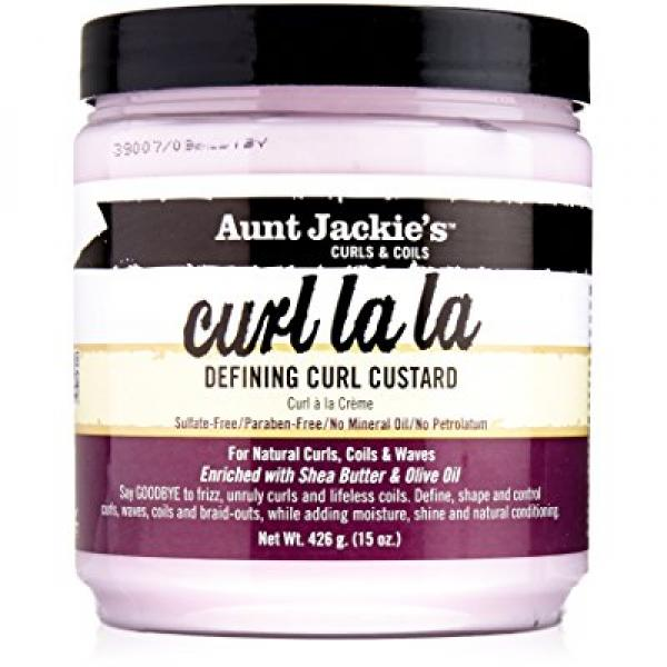 Aunt Jackies Curl La La Defining Curl Custard, 15 Ounce