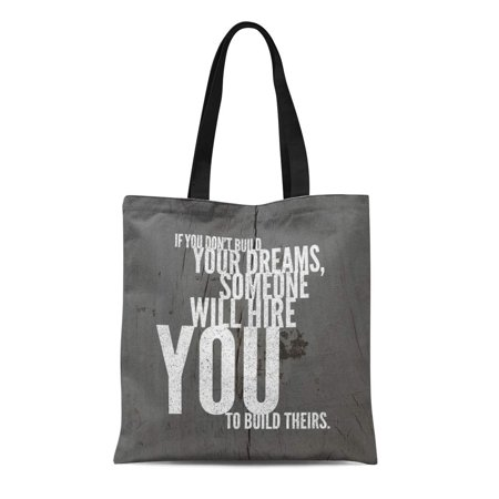 HATIART Canvas Bag Resuable Tote Grocery Shopping Bags Saying on Life Best Inspirational and Motivational Sayings About Wisdom Positive Tote Bag - image 1 de 1
