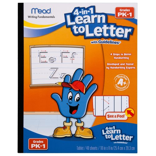 Mead Early Learning 4-in-1 Learn to Letter Tablet