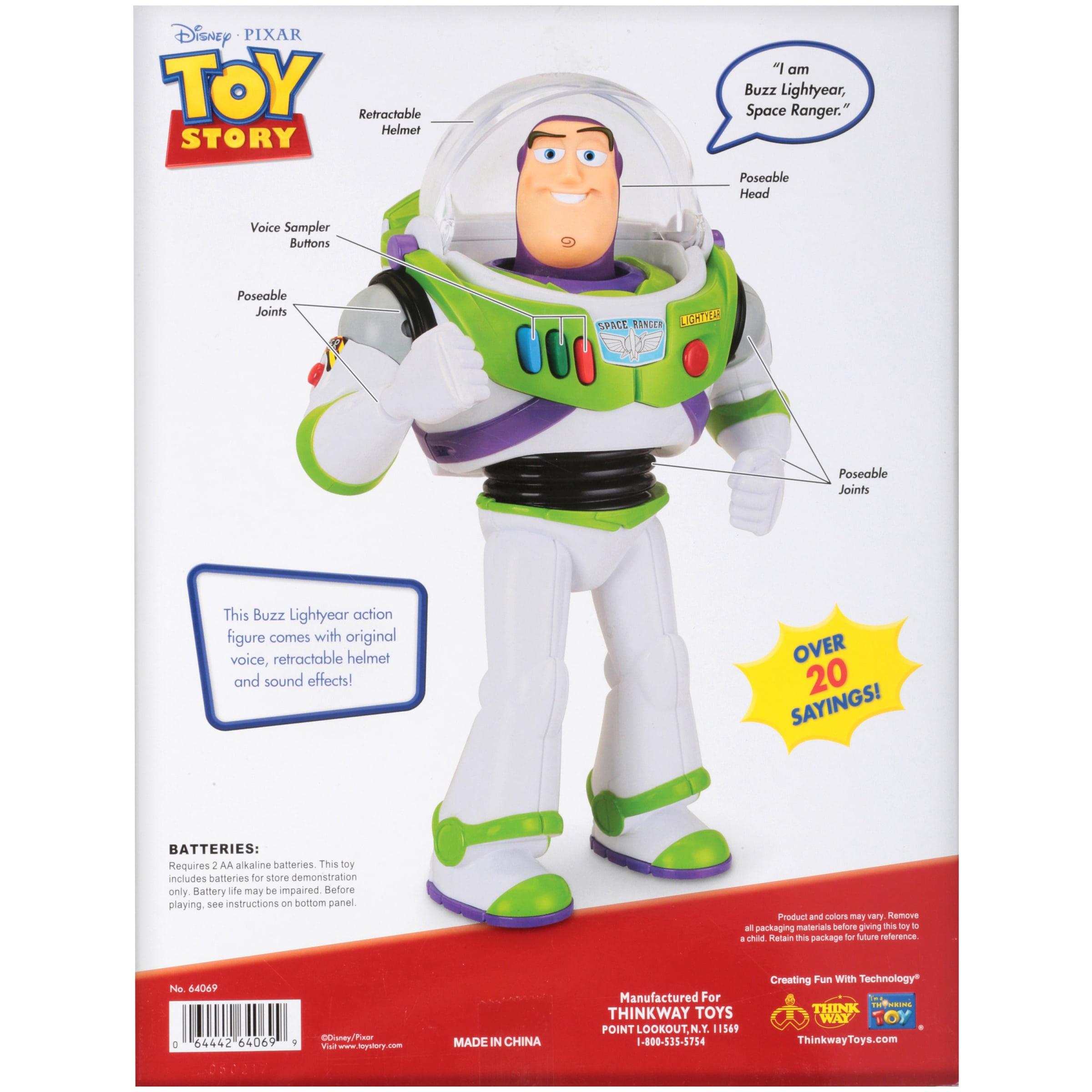disney pixar toy story buzz lightyear talking action figure