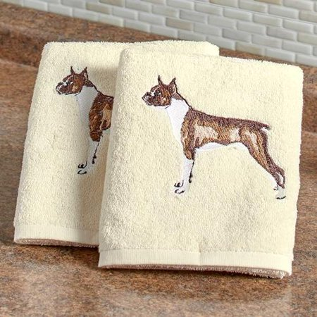 Dog Breed Hand Towels (The Lakeside Collection Set of 2 Dog Breed Hand Towels-)