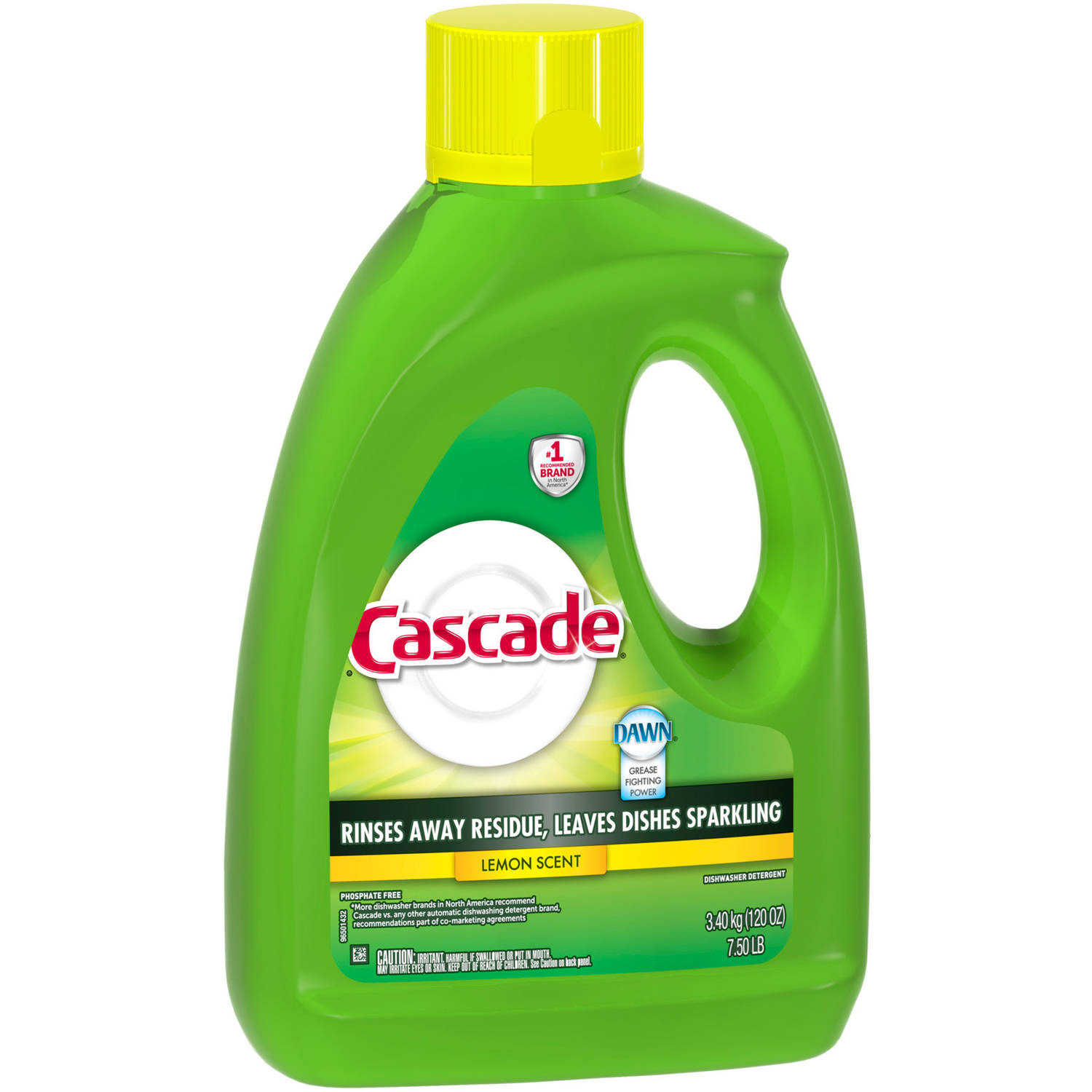 Cascade Gel Lemon Dishwasher Detergent, 120 oz