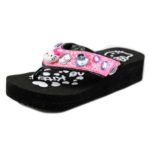 Hello Kitty Tilly Youth  Open Toe Synthetic  Wedge Sandal