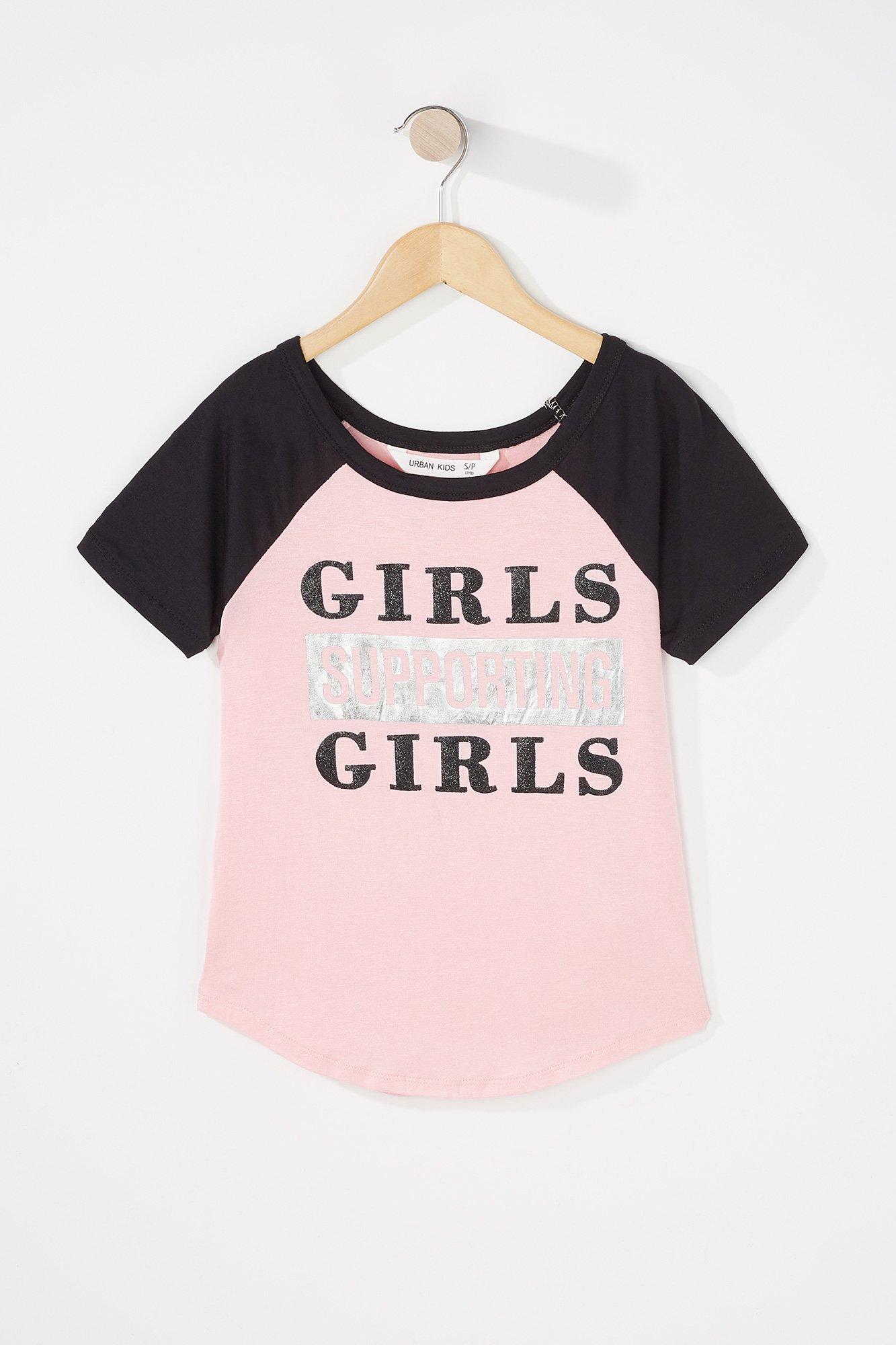 Urban Kids Youth Girl\'s Girls Colour Block Graphic T-Shirt
