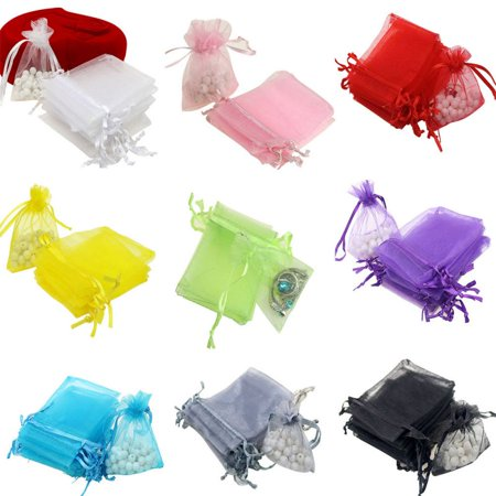 Nicesee 100 Pcs Organza Wedding Bags Gift Jewellery Candy Pouch - Welcome Wedding Bags