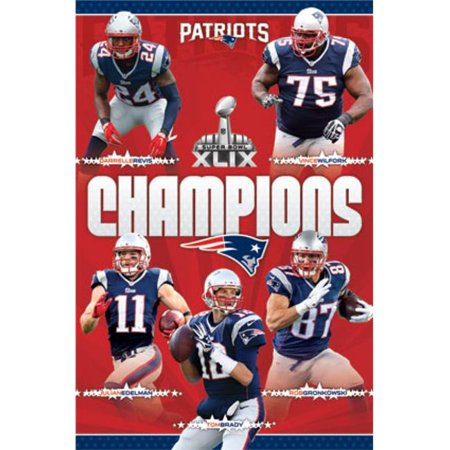 Posterazzi TIARP13711 Super Bowl Xlix - Champions Poster Print - 24 x 36 in.](Super Bowl Decor)