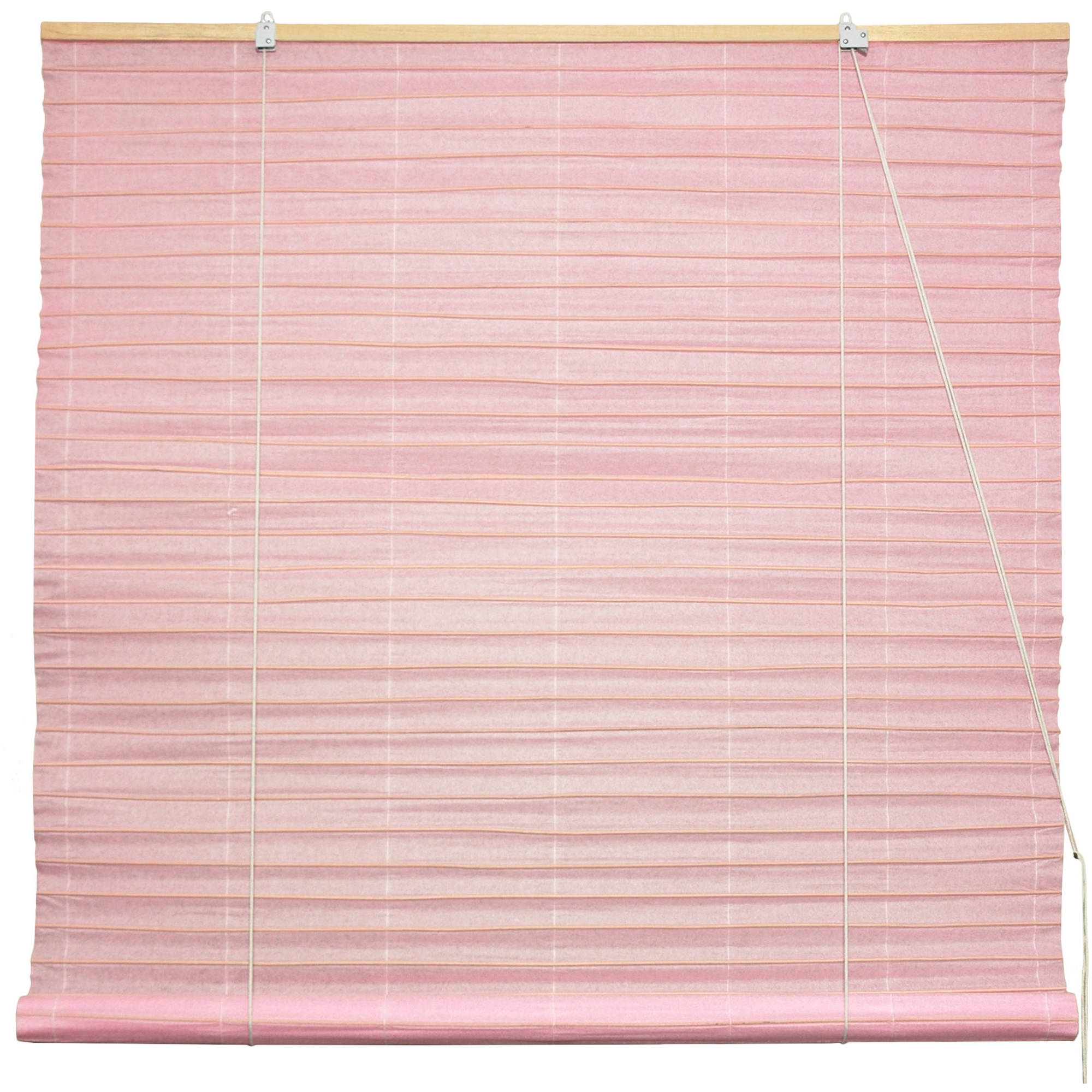 Shoji Paper Roll Up Blinds, Light Pink