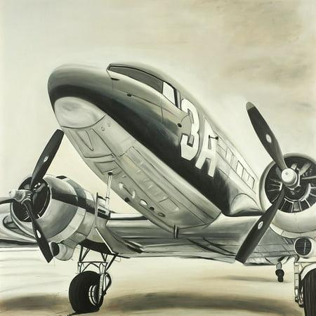 - Vintage Airplane Poster Print by Atelier B Art Studio