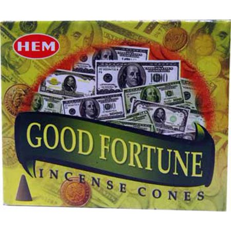 Success Incense (HEM Incense Good Fortune 10pk Cones Bring Good Luck and Success in Abundance Along with a Create Relaxing Atmosphere Into Your Home Prayer Meditation)
