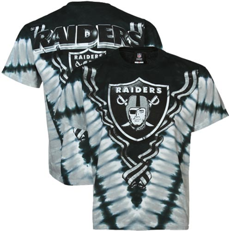 NFL: Raiders Logo V-Dye Apparel T-Shirt - Tie Dye