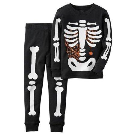 b55be8216 Carter s - Carters Boys 4-7 Halloween Skeleton Pajama Set(Black 5 ...