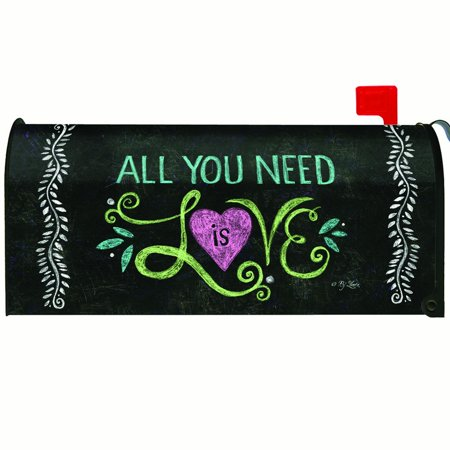 Toland All You Need Is Love Chalkboard Mailbox Cover #310014
