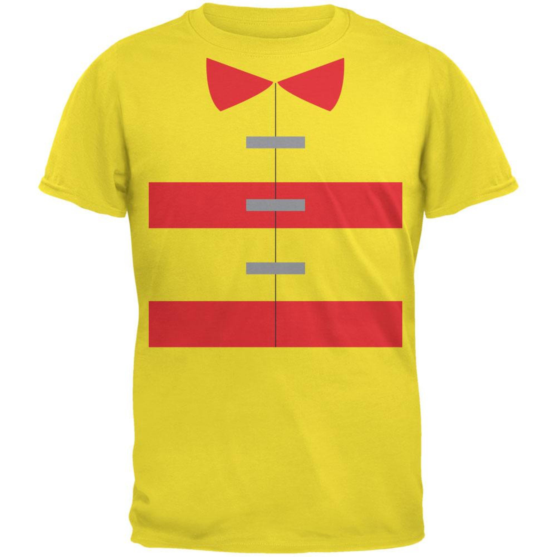 Halloween Fireman Costume Yellow Youth T-Shirt
