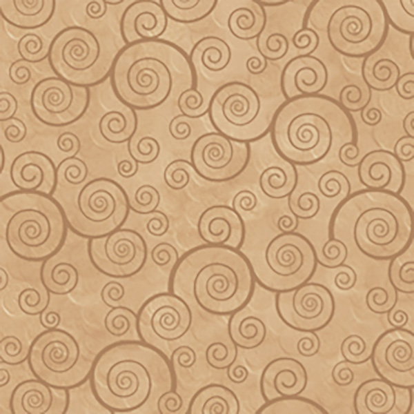 Quilting Treasures Fabrics Harmony Curly Scroll Camel