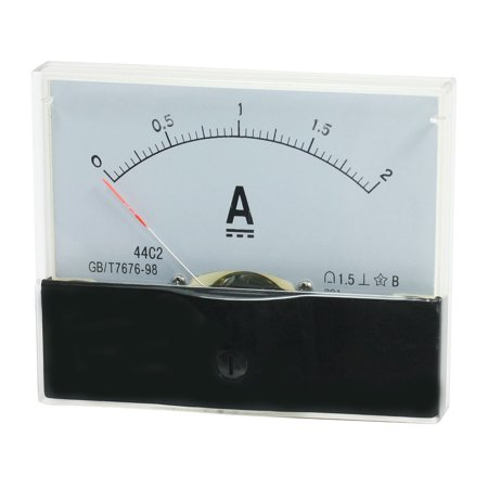 Unique Bargains DC 0-2A Class 1.5 Accuracy Current Testing Panel Meter Ammeter