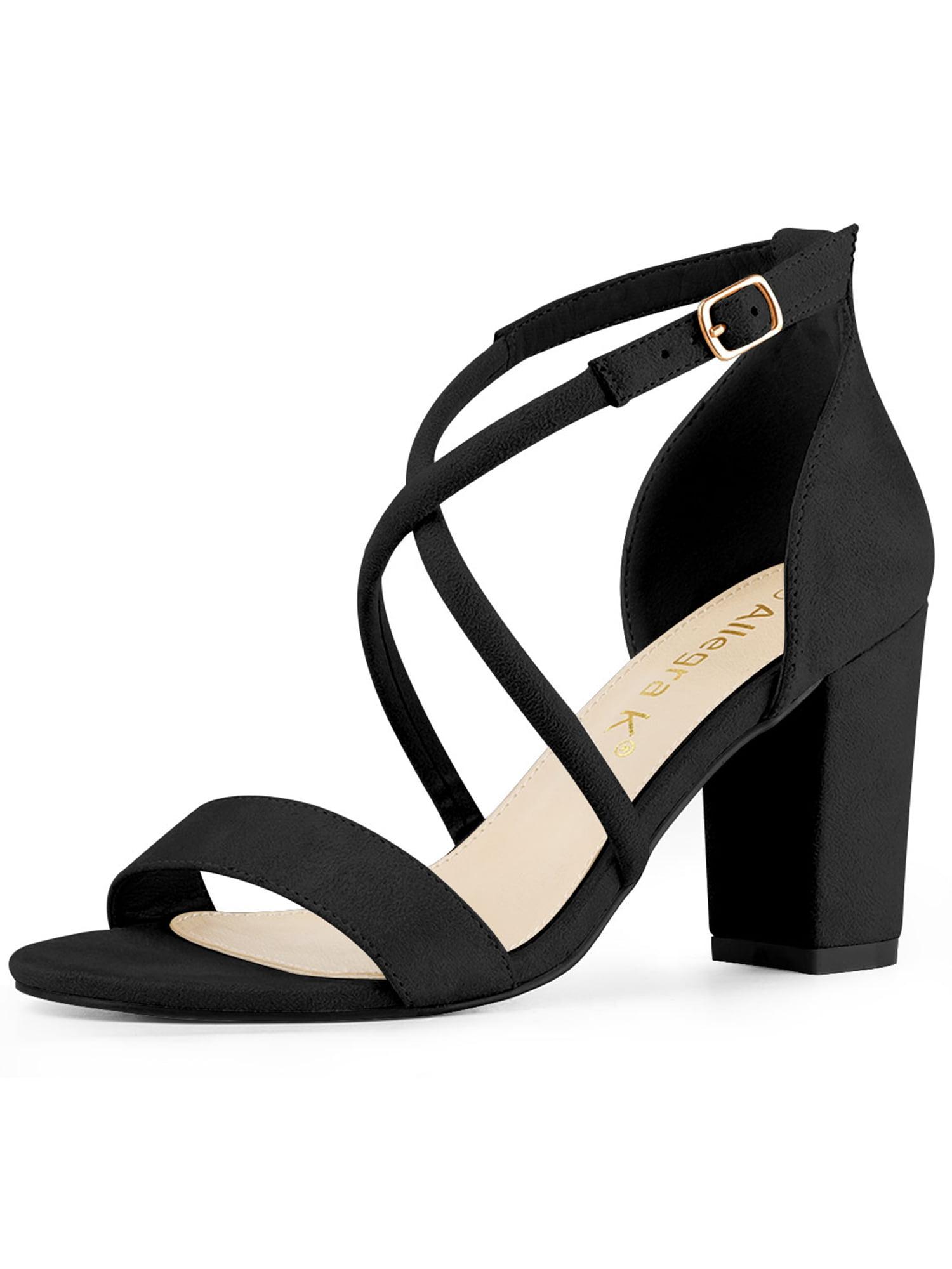 Women's Crisscross Ankle Strap Block