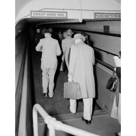 USA New Jersey Jersey City worlds first passenger belt conveyor in operation by the Hudson and Manhattan RR Canvas Art - (18 x 24)