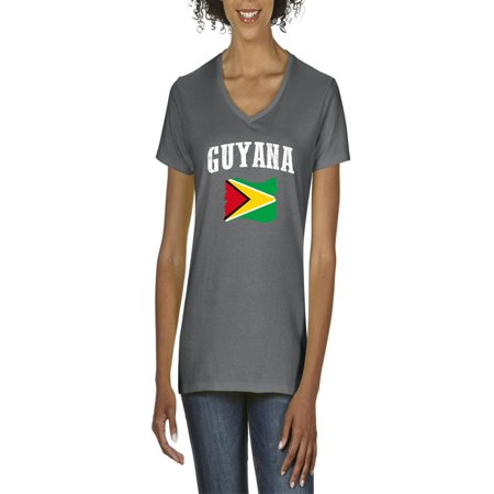 Guyana Flag Women's V-Neck T-Shirt Tee Clothes