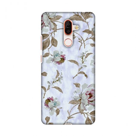 Nokia 7 Plus Case, Premium Ultra Slim Fit Light Weight Handcrafted Printed Designer Hard Snap On Shell Case Back Cover for Nokia 7 Plus - Lavender And Pearl White - Pearl Nokia Faceplates
