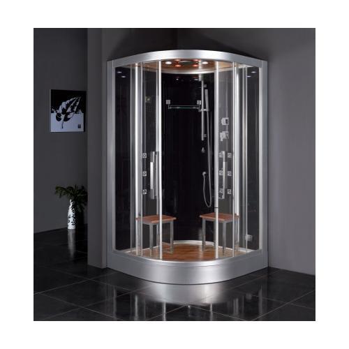 Ariel  Platinum Series DZ962F8-BLK Steam Shower 47.2x47.2x89