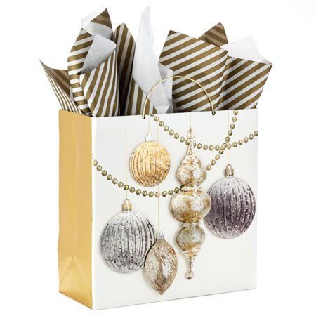 Hallmark Signature Large Christmas Gift Bag with Tissue Paper (Ornaments) - Large Paper Bags