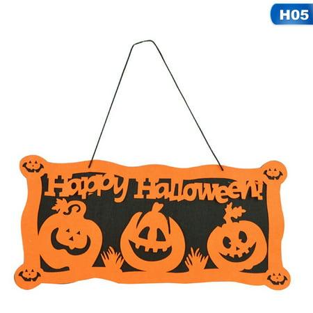 Halloween Door Hanging Crafts (KABOER New High Quality Non-woven Halloween Door Hanging Decoration Fashion)