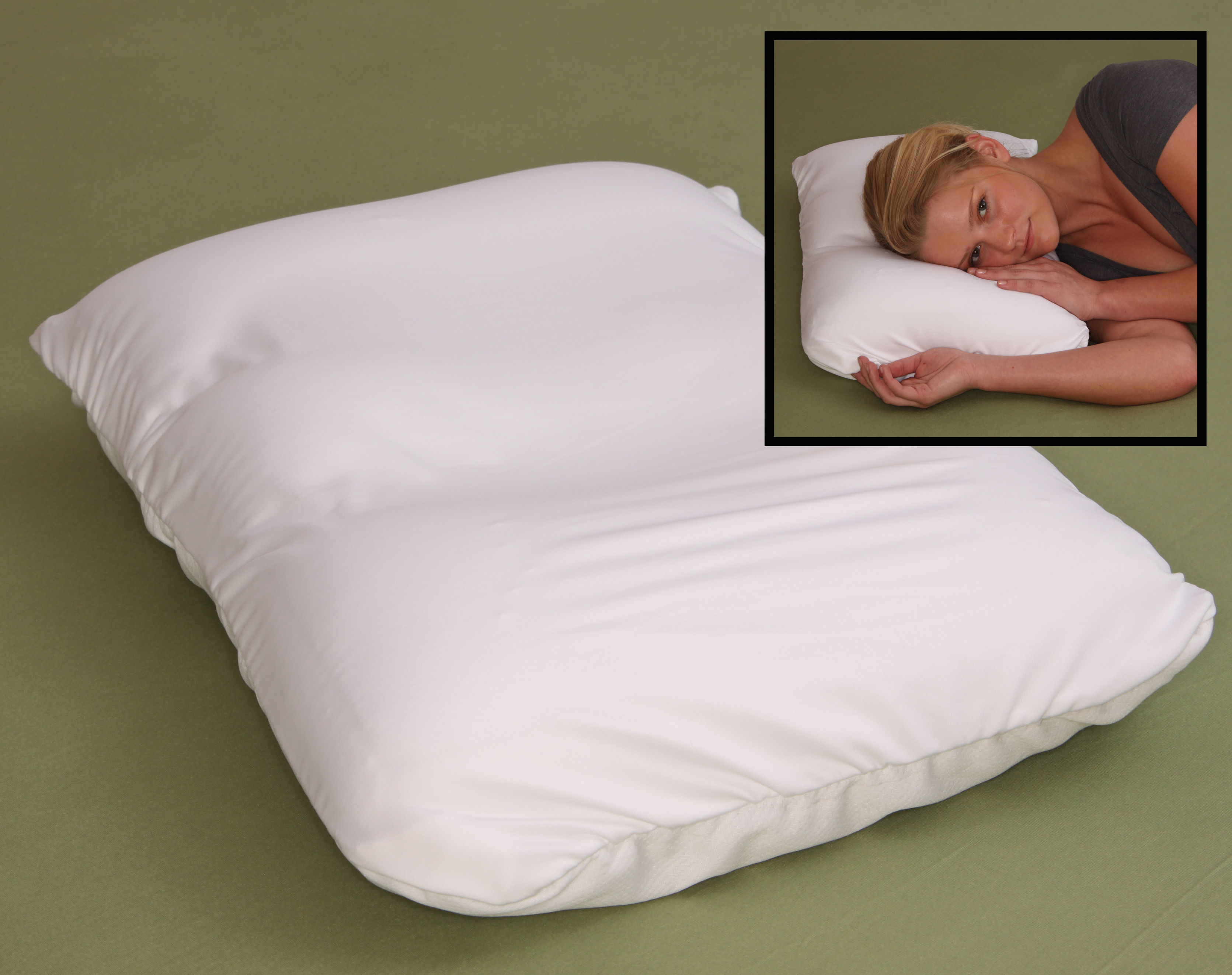 Microbead Pillow Most Comfortable Air Micro Bead Cloud Pillows Squishy, Yet Firm, Neck... by Living Healthy Products