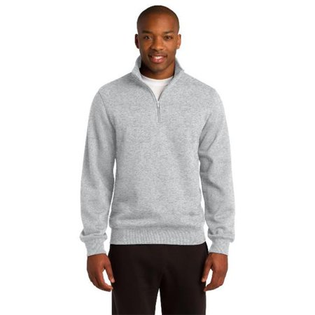Sport-Tek ST253 Mens 1 by 4-Zip Sweatshirt, Athletic Heather - Large - image 1 de 1