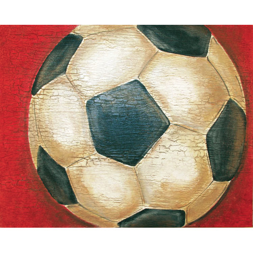 Renditions by Reesa Crackle Soccer Canvas Art