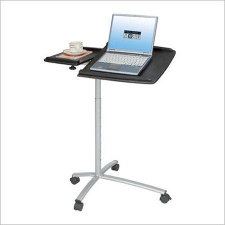 Techni mobili adjustable standing laptop cart in espresso - Computer cart walmart ...